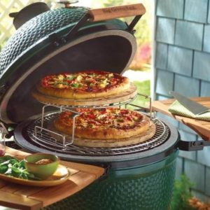 Big Green Egg with food
