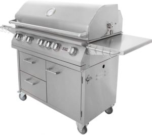 Lion 40 in natural gas grill on cart
